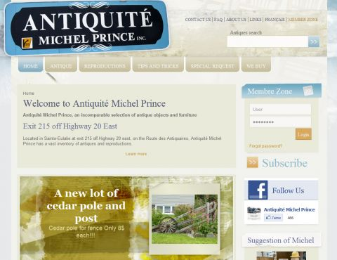 Antiquité Michel Prince, vaste sélection d'antiquités