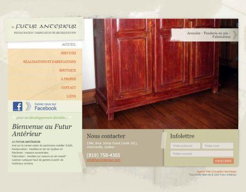 Fabrication de meubles sur mesure, Futur Antérieur
